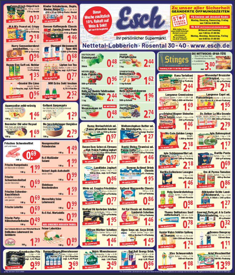 Esch - Unser aktueller Wochenzettel mit tollen Angeboten